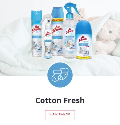 Air Scents | Cotton Fresh Fragrance Range