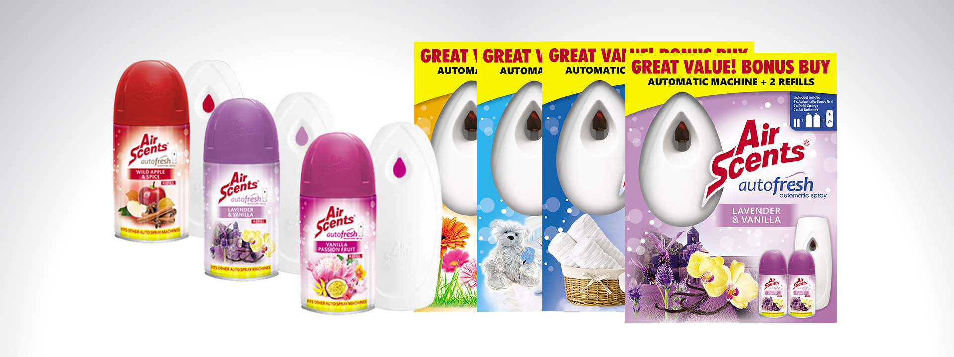 Air Scents Autofresh Machines and Refills